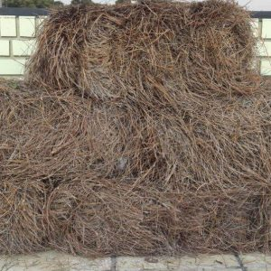 Pine straw bales southern landscaping materials for Straw bale house cost calculator